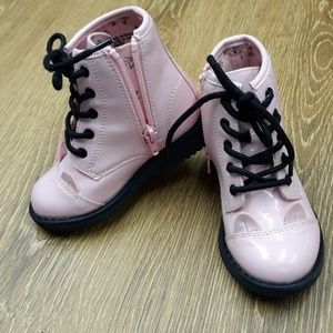 Pink Kitty Combat Boots Childrens Place size 7